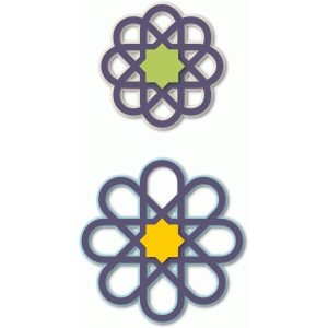 layered islamic stars ornaments