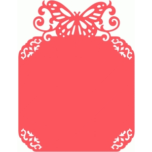 romantic butterfly flourish card