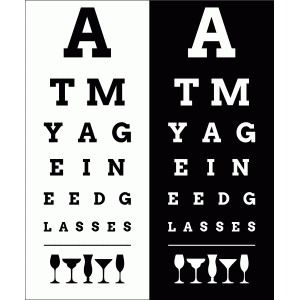 eye chart - need glasses