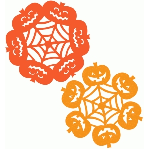 halloween spiderweb pumpkin doilies