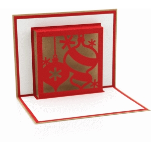3d christmas ornaments pop up card
