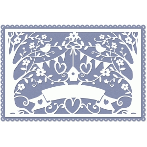 wedding lace papercut