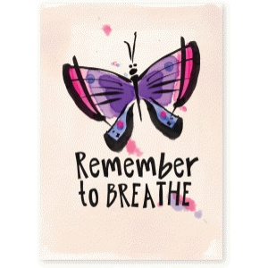remember to breathe watercolor butterfly