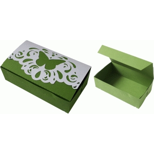 butterfly lace tuck box
