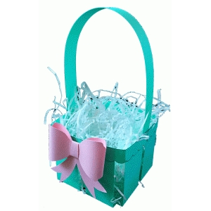 berry basket with bow