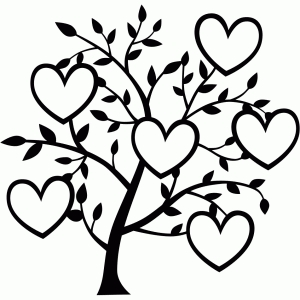6 heart family tree