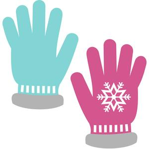 gloves snowflakes