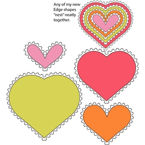 8 piece stamp edge heart set 1