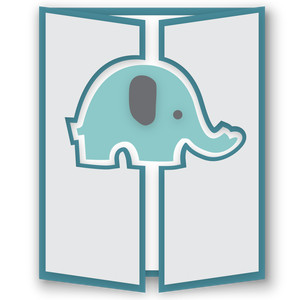 gatefold card - baby elephant