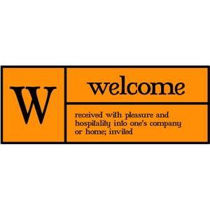 w is for welcome pc