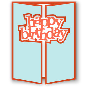 gatefold card - happy birthday