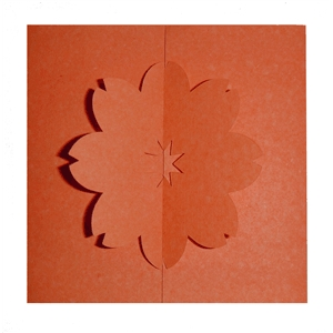 flower gate fold card