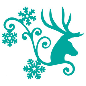 winter deer flourish