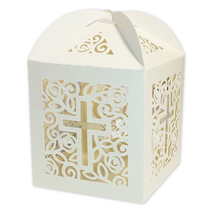 roses cross favor box