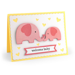 baby card elephants