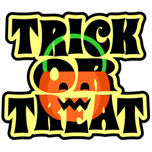trick or treat pumpkin title