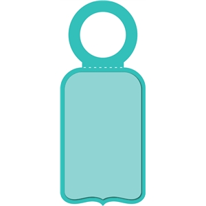 bottle label tag-bracket
