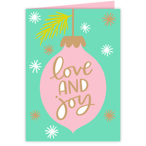 love and joy christmas card