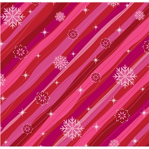 snowflake pattern red stripe