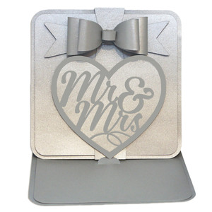 mr & mrs easel card