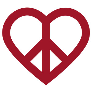 heart peace sign