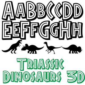 zp triassic dinosaurs 3d