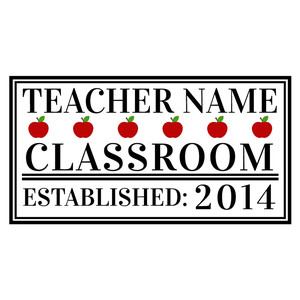 custom teacher classroom sign