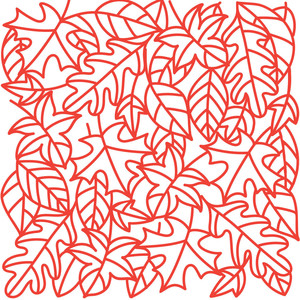 outlined fall leaves background