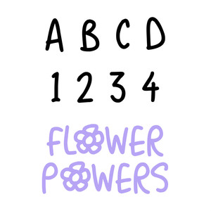 flower powers font