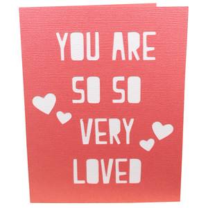 so very loved card or wall art