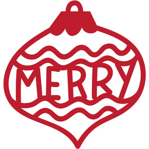 christmas ornament tag merry