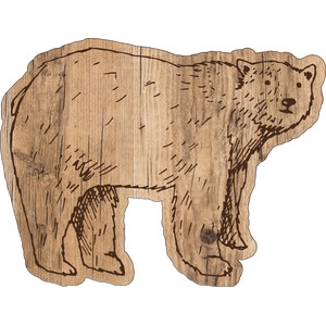woodgrain bear