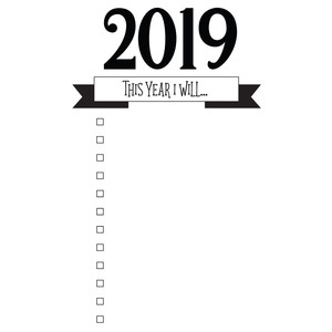 this year i will resolution & goals list