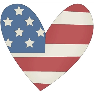 heart with flag