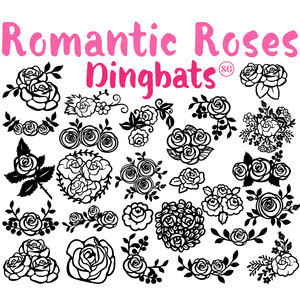 sg romantic roses dingbats