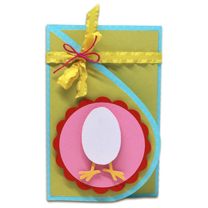 easter teardrop card