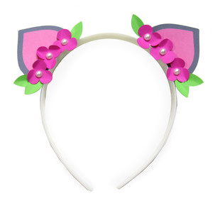 kitty floral headband