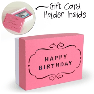 3d box gift card holder box - happy birthday