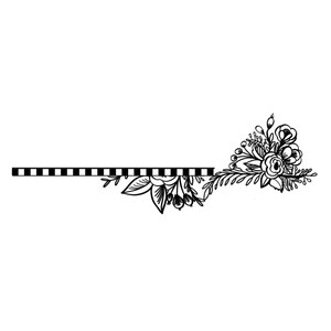 striped floral border