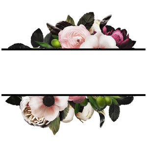 flower borders frame