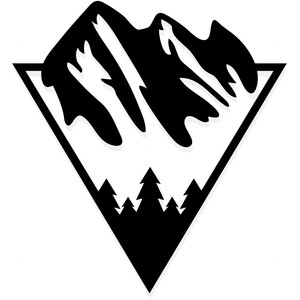 retro mountain logo