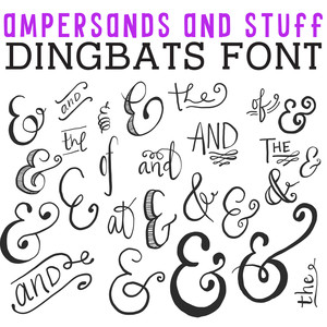 cg ampersands and stuff dingbats