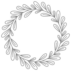 leaf wreath simple