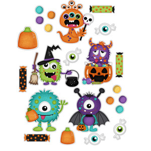 halloween monster sticker