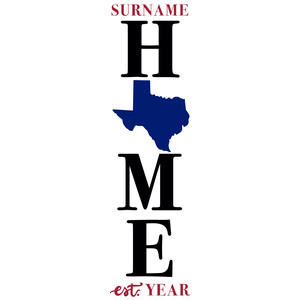 texas home porch sign