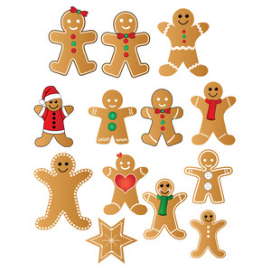 gingerbread people stickers
