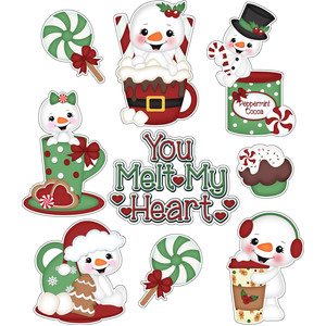 you melt my heart snowman christmas stickers