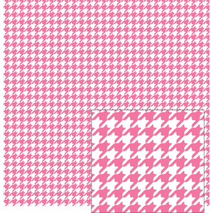 pink and white houndstooth pattern