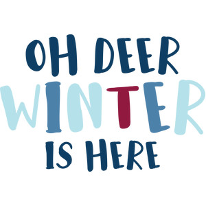 oh deer winter is here