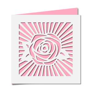 rose burst card